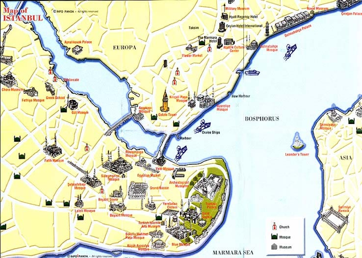 Istanbul travel map