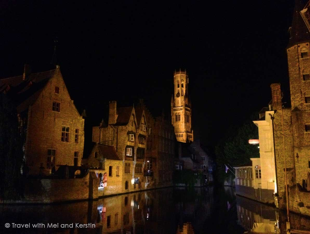 Rozenhoedkaai by night, Bruges, Belgium © Travelwithmk.com
