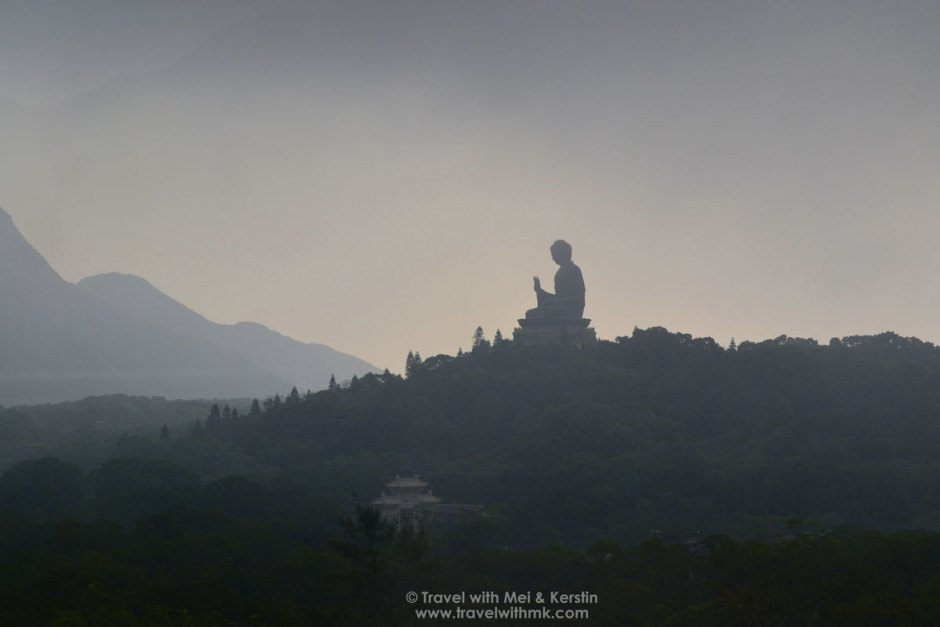 Tian Tan Buddha seen from afar, Hong Kong © TravelwithMK.com