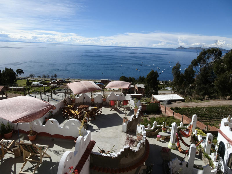 Hostal Piedra Andina, Copacabana, Bolivia. Photo by SpunOnTheRun.com