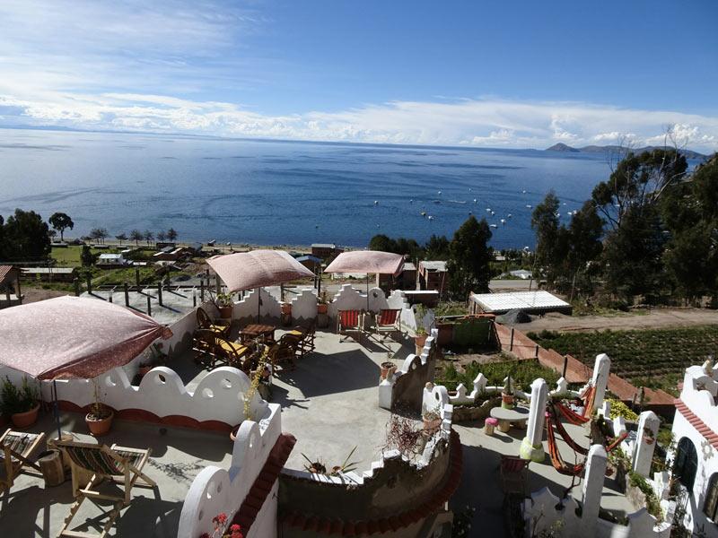 Hostal Piedra Andina, Copacabana, Bolivia. Photo by SpunOnTheRun.com