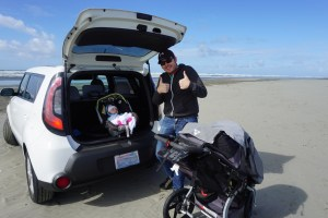Going to the beach with a baby