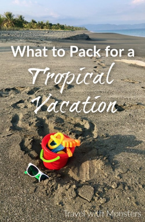 what to pack for a tropical vacation pin 1