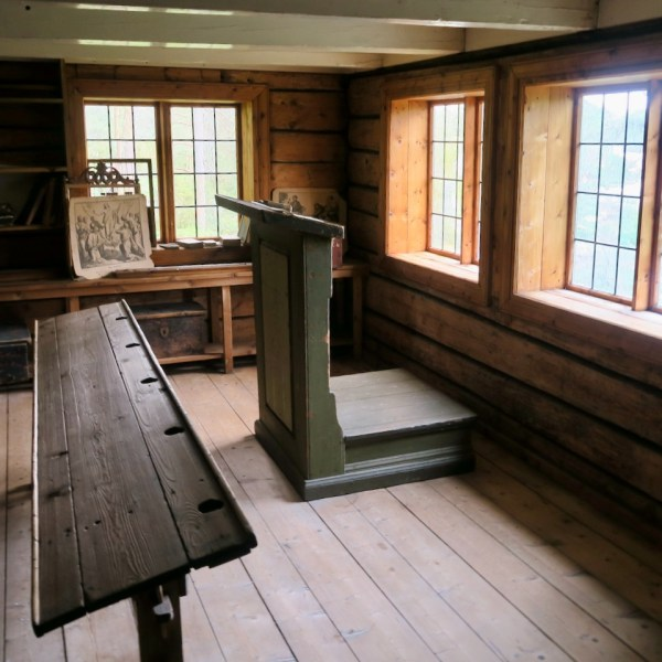 The interior of the Sunnmøre Museum schoolhouse was a highlight for our school-age kids.