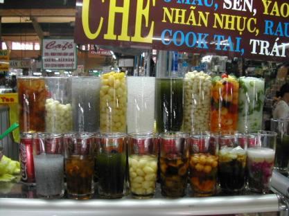 דוכנים בשוק בן תאן בהו צ'י מין סיטי