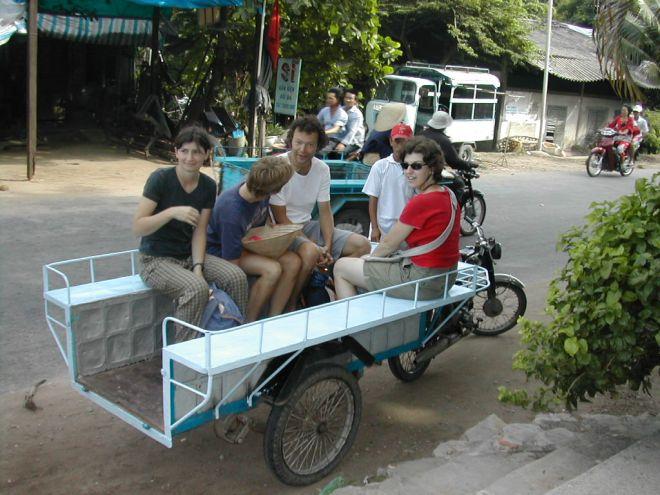 תחבורה מקומית בצ'או דוק, דלתת המקונג