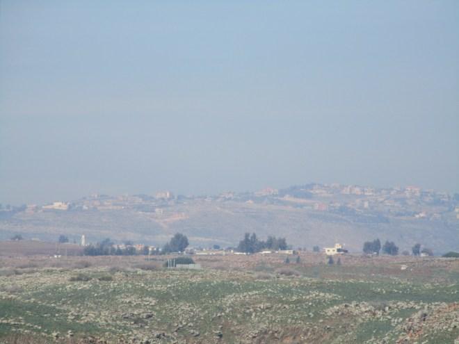 מבט ללבנון ממצפור נחל שניר