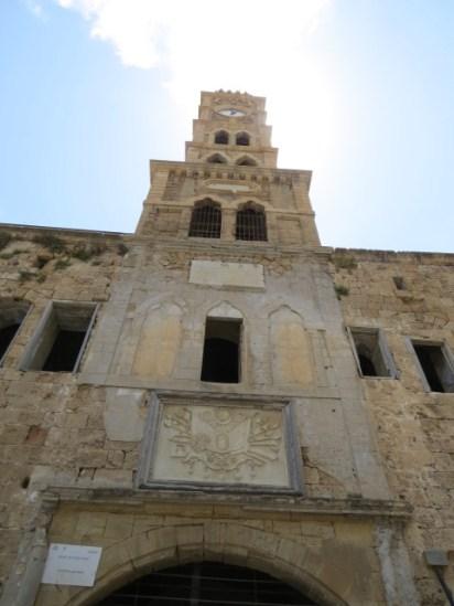 מגדל השעון עם חותם הסולטאן העות'מאני