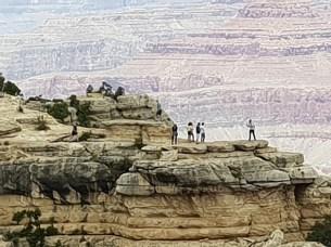 מסלול ההליכה מ Mather point למוזיאון הגיאולוגי