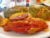 ממטעמי המטבח היווני - פלפלים ממולאים