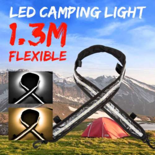 LED Camping Light 1.3m flexible Amber and White with Dimmer