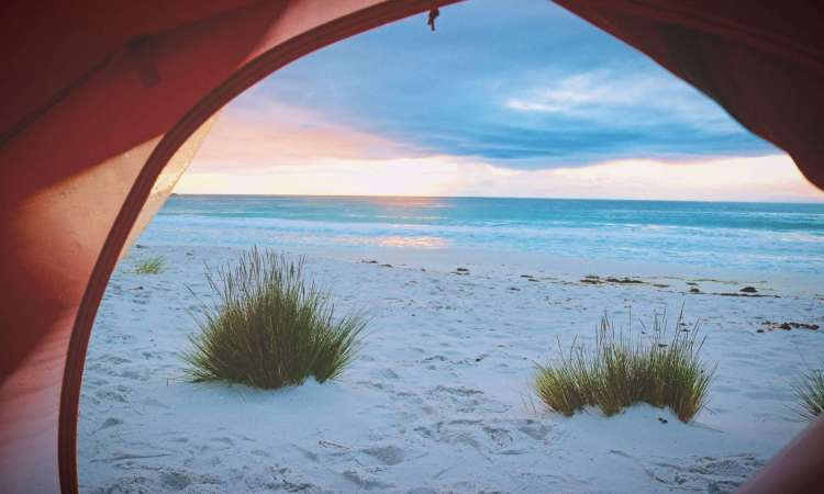 You choose the view when you go camping #camping #beachcamping #loveoutdoors