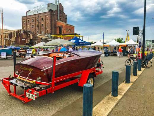 Runaway Wooden Boat on display at Port Adelaide BoatFest 2018