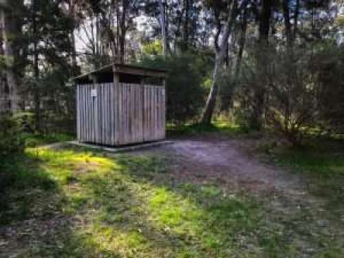 Toilets at Chookarloo Campground at Kuitpo Forest