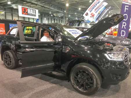 Sara enjoying the Ford Ranger at the Adelaide 4WD & Adventure Show 2018