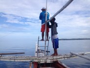 Boatmen in Sorsogon, Philippines, on the lookout for whale sharks