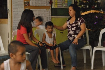With Mama Nelly, the children's guardian
