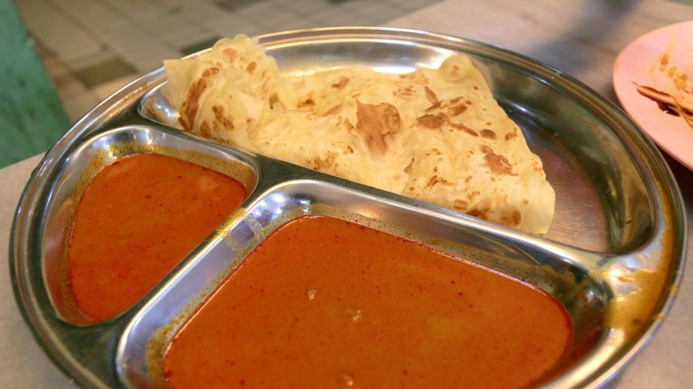 Paratha with chili dip