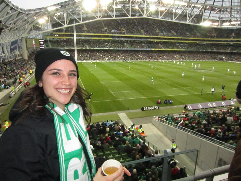 Ireland Rugby vs Argentina Match at Croke Park in Dublin