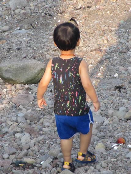 Jeju Island Child Ponytails