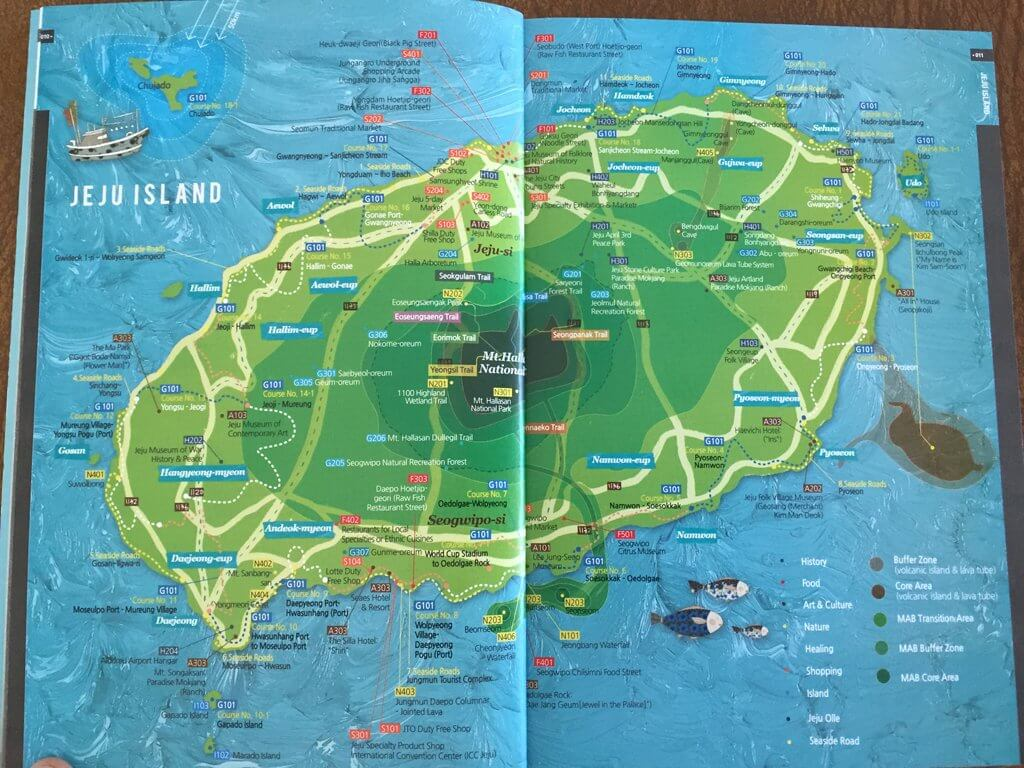 Map of Jeju Island