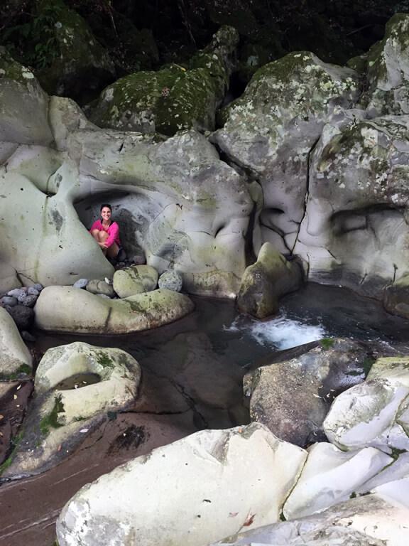 Peekaboo at Wonang Falls on Jeju Island