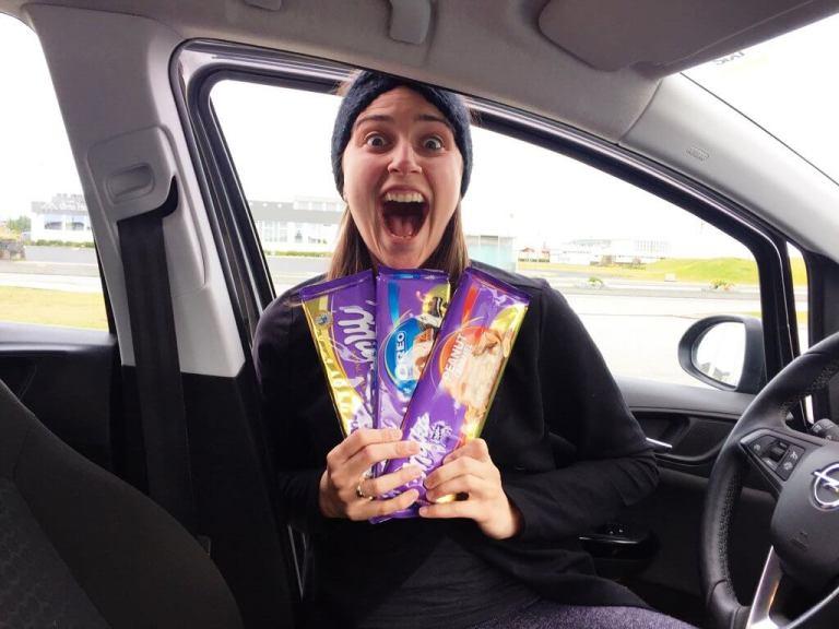 Icelandic Milka Bar Thrills before the travel mishaps began