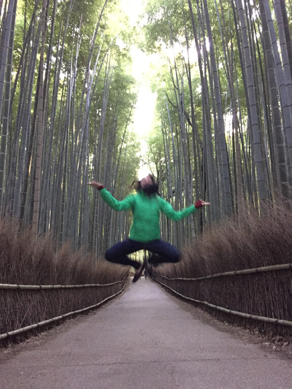 Japanese Zen in the Bamboo Forest