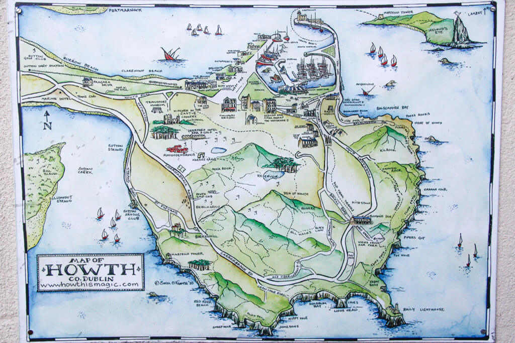 Howth, Ireland Map