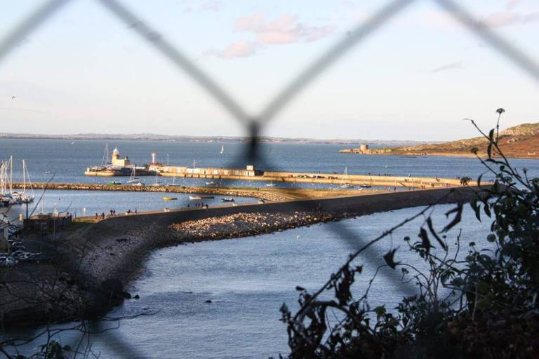 Howth Ireland's Eye, through the fence