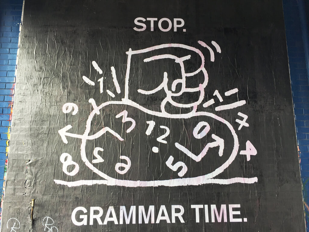 Australia's Stop Grammar Time Sign