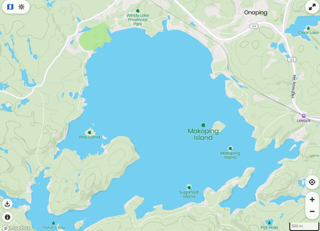 Facts about Windy Lake Provincial Park and Makoping Island