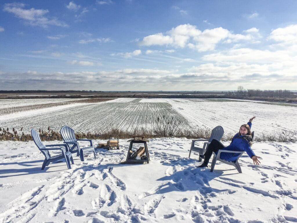 Winter Views at Inasphere Wines, One of the Best Places to Eat and Drink in Norfolk County
