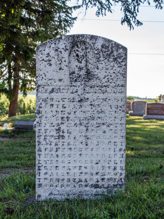 Ontario's Cryptic Gravestone in Wellesly Township