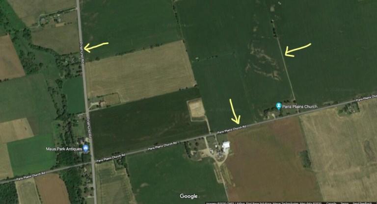 Disappearing Roads near Paris Plains Church in Ontario Canada