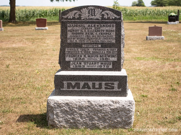 Maus Cemetery - Son of Henry S Maus Headstone