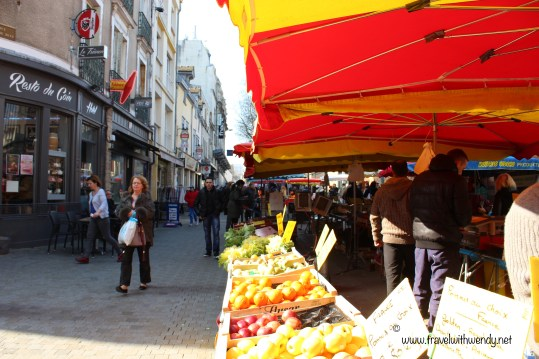 market in Troyes