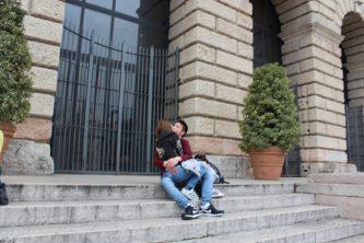 Lovers in love in Verona