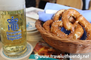 Pretzels and beer! Ahhh Bavaria