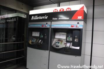 Train ticket machines in Lyon