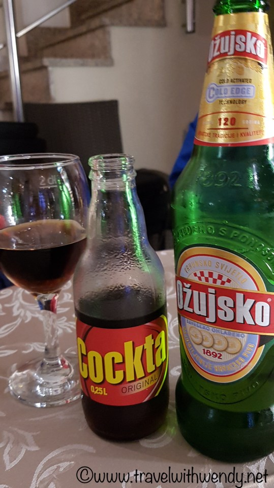 Cockta and Croatian Beer - fun, fun!