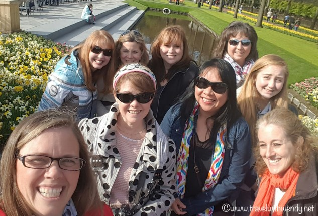 All smiles at Keukenhof - group picture