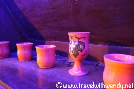 Old wine goblets