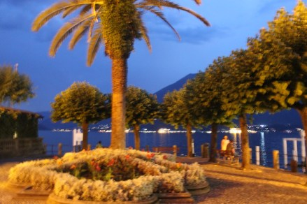 Bellagio Park at night