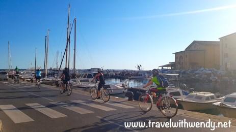 Bikers in Piran