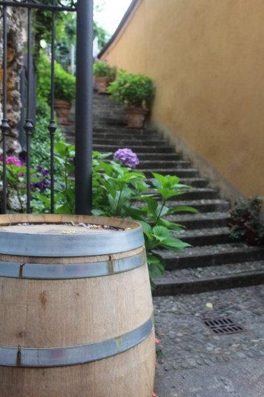 Wine barrels throughout Bellagio