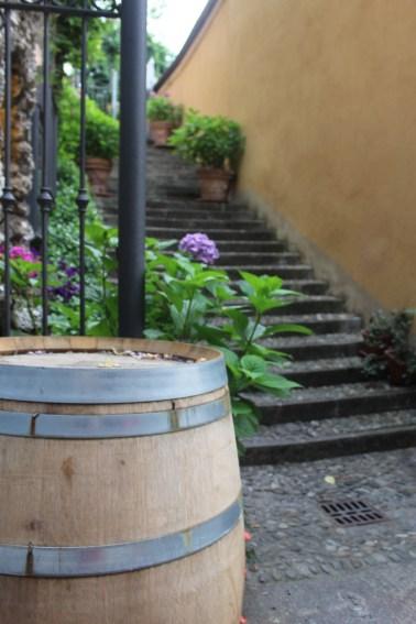 Wine barrels throughout Bellagio