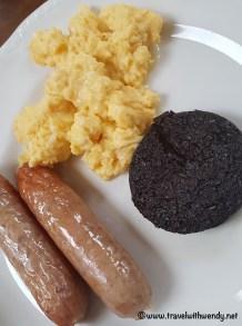 Furan House Black Pudding for breakfast - Furan House