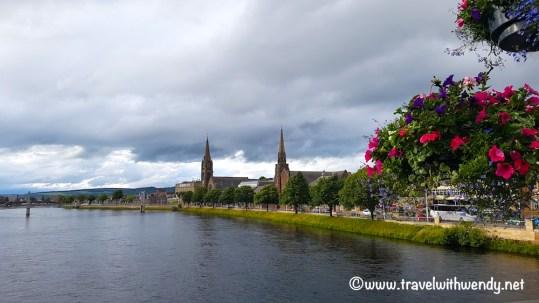 Inverness Crossing the bridge in Inverness