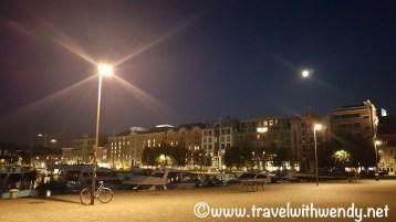 The Antwerp Harbor at Night